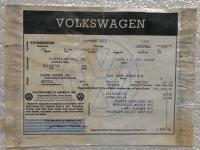 Window sticker 1966 Ghia repro