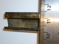 56-59 Ghia quarter window chrome trim clip