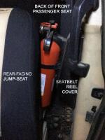 Fire Extinguisher Mount - 87 Syncro Hardtop with Jumpseats