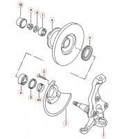 Front Steering Knuckle Diagram