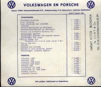 Ben Pon Autos pricelist dated 1959