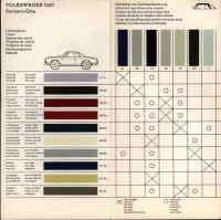 VW type 3 and Karmann Ghia color charts