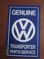 VW Transporter Parts / Service sign