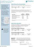 Donaldson intake/exhaust flow formulas