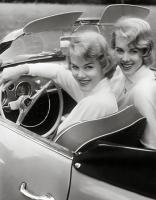 Vintage photo - low light Ghia - girls look like twins