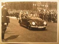 Vintage photo - Hitler in the kdf IIIA 42803 Convertible