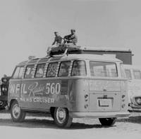 Vintage photo - WFIL Radio 560 News Cruiser Micro Bus