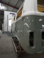73 camper in restoration