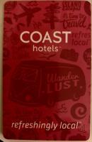 Hotel key card with split bus image