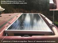 100w panel in cargo area luggage 42.2x19.6x1.4