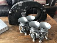 Solex 40 P-II w/ Trumpets & Custom Shroud