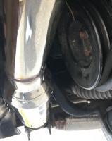 """Diesel AAZ 2½"""" stainless steel exhaust"""