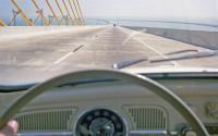1961 Beetle on Sunshine Skyway, Tampa Bay, Florida