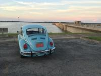 VW bug at Fall River Dam, record high water level