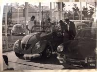 Vintage photo - Beetle with blown engine