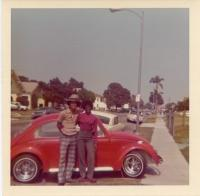 Vintage photo - 1960's Beetle and couple