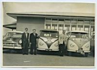Vintage photo - 1950's pressed bumper Buses