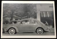Vintage photo - oval window Beetle with wind up key