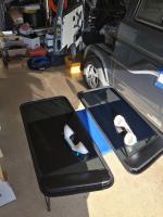 Rear vented window installation
