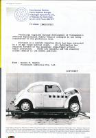 Volkswagen Australia letter regarding Super Beetle crash testing