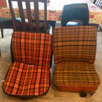 1974 Westfalia orange plaid seat covers
