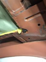 Ragtop corner rivets and rubber bumper