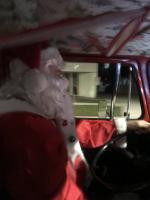 Santa driving