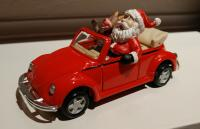 Santa and Rudolph in a Convertible Bug