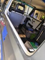 Sliding windows & felt strip install
