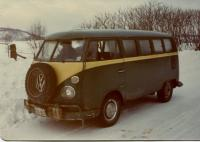 66 bus in winter, 1981