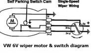 6V Wiper Motor wiring diagram