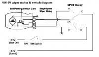 VW 6V Wiper & SPST switch diagram