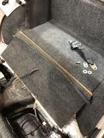 Rear seat luggage