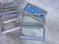 CIRCLE MOTORS plate frames