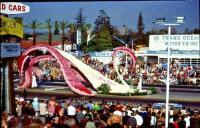 Trans Ocean Motor Co - Pasadena, CA 1967 slide with float in front of dealership