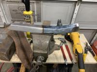 Passenger side rear lower quarter panel repairs