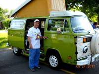 Dad and his 1977 Deluxe Westfalia Campmobile