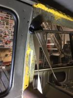 Microbus seatbelt install and panel tabs