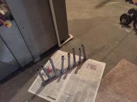 Painting push rod tubes
