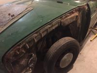 Front fender and bumper removal