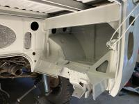 Sandblasted and Primed/Painted L87 Engine Bay