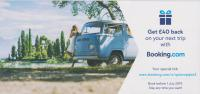 Booking.com leaflet featuring 1968~70 VW Type 2 campervan