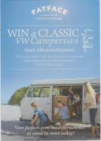 FATFACE Clothing - Win a classic VW Campervan