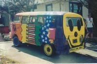 sister in law's multi painted bus