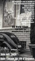 Rare Vintage Air VW d'Elegance - June 6th, 2020