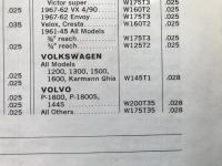 1968 Bosch Spark Plug Catalog Reference