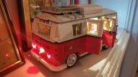 Creator Series Volkswagen T1 Camper Van (set 10220) WITH aftermarket LED lights