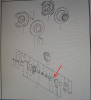 Aligning caliper piston