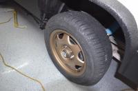 Mercedes alloys with custom center caps