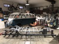 1966 21 window chassis repair